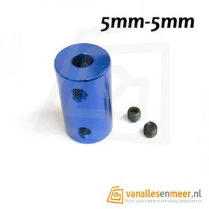Vaste Motorkoppeling 5mm naar 5mm cnc