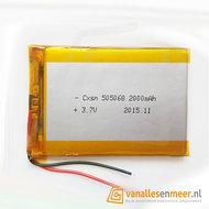 Lithium Ion Polymer batterij - 3,7 V 2000mAh