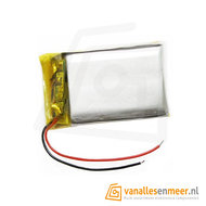 Lithium Ion Polymer batterij - 3,7 V 400mAh