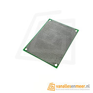 Prototyping board 6x8cm (46x64gaats) PCB dubbelzijdig 1.27mm pitch