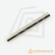 Header male 40 pins Pitch 1.27mm