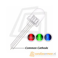 8mm LED  RGB Clear common cathode