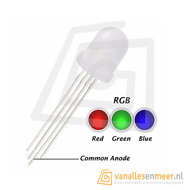 8mm LED  RGB Diffused common Anode