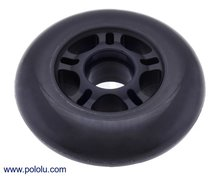 Scooter/Skate Wheel 84×24mm - Black   Pololu 3275
