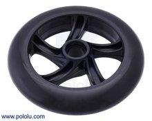 Scooter/Skate Wheel 144×29mm - Black  Pololu 3281
