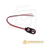 9V batterijclip met kabel 10cm