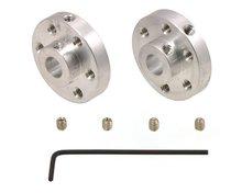 aluminium montagehub voor 6 mm as, # 4-40 gaten (2-pack) Pololu 1083